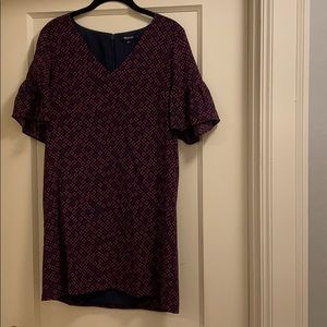 Madewell silk mini dress with flutter sleeves